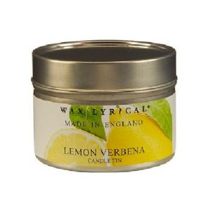 Lemon Verbena TIN Made In England Scented Candles Wax Lyrical 16 Hours